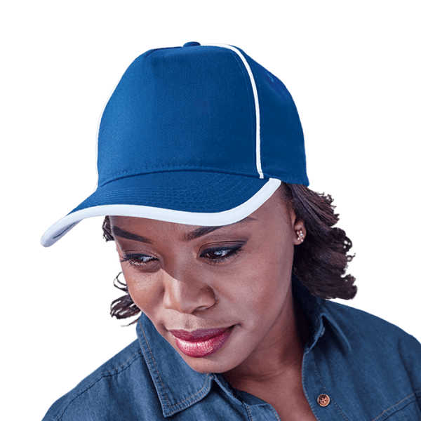 5 Panel Cotton Contrast Piping Cap