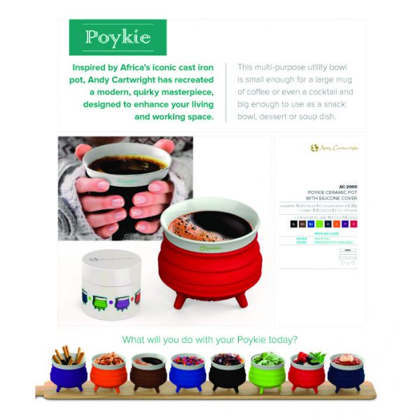 Poykie Ceramic Pot With Silicone Cover