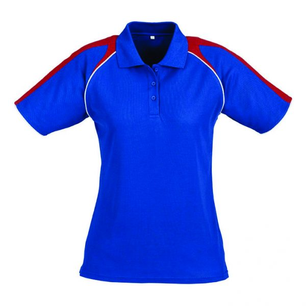 Triton Ladies Golf Shirt - Royal Blue With Red Only