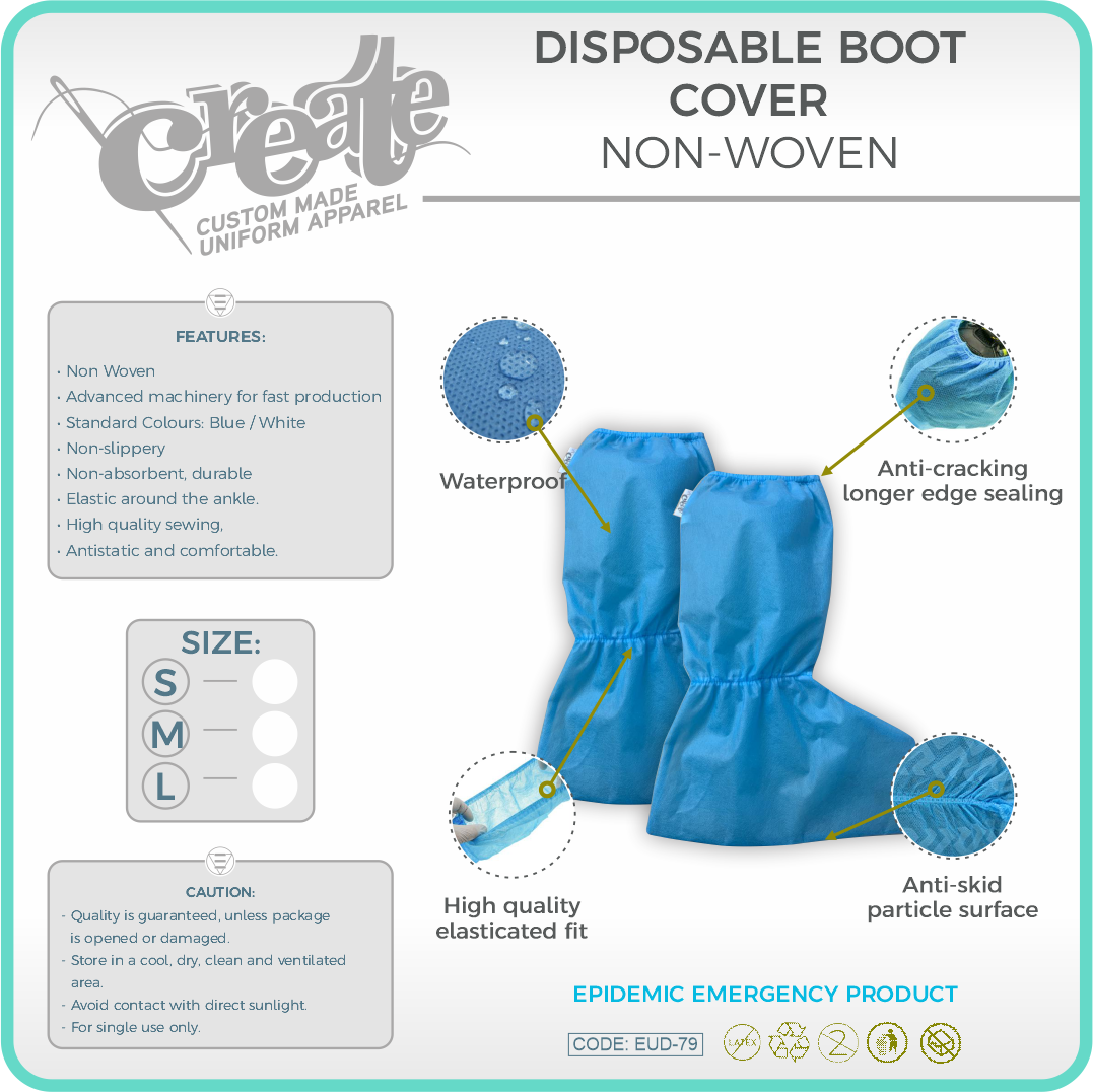 DISPOSABLE BOOT COVER