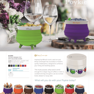 Ceramic Poykie Pot With Silicone Cover