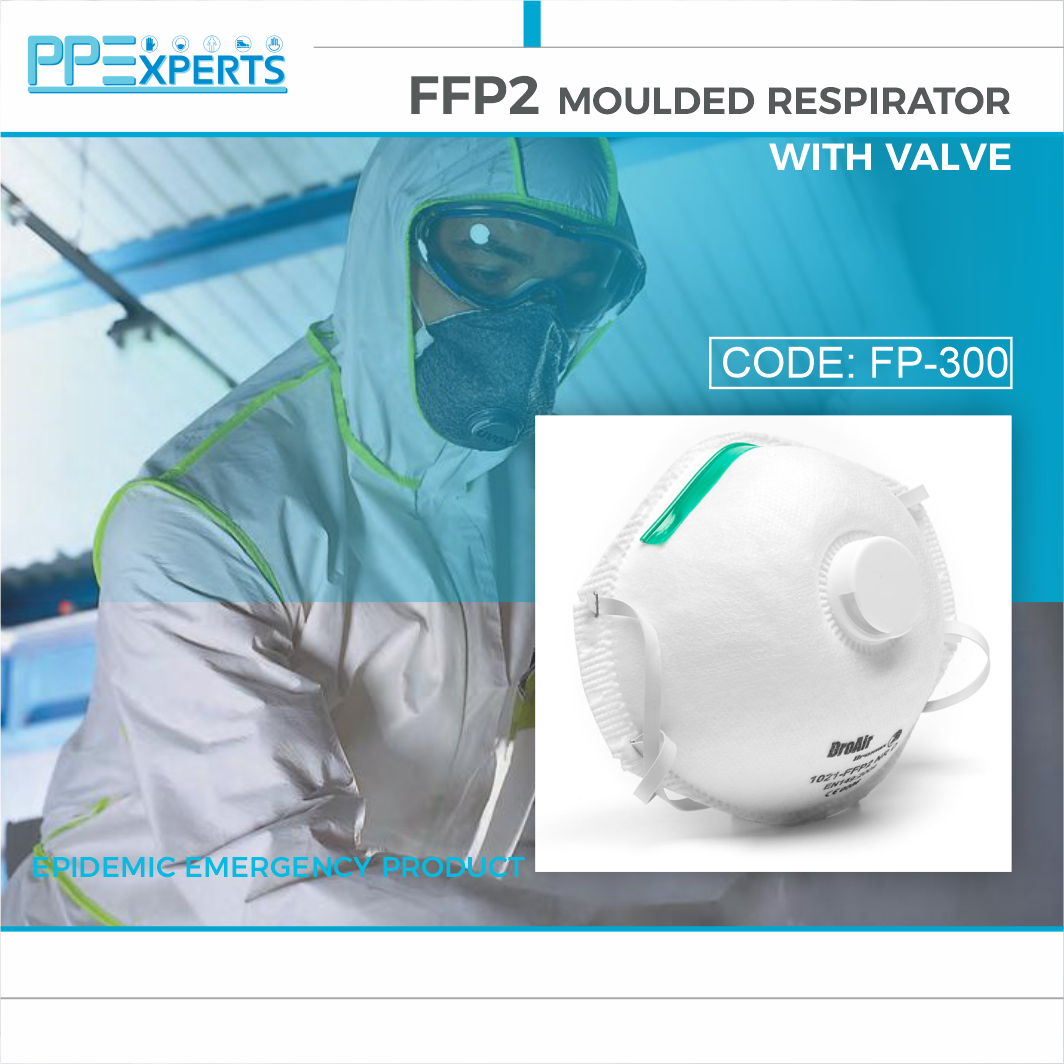 FFP2 MOULDED RESPIRATOR WITH VALVE